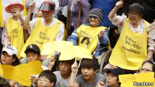 前慰安妇抗议