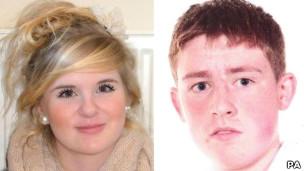 Jovens mortos Natasha MacBryde e Jordan Cooper Foto: PA
