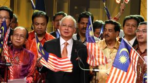 Thủ tướng Najib Razak phát biểu trên truyền hình về luật an ninh