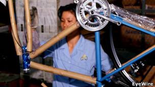 Fábrica de bicicletas en China