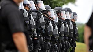 Policía antidisturbios en Estados Unidos