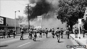 Protesta en Watts