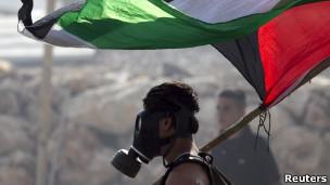 Manifestante palestino. Reuters