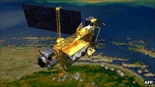 O satélite UARS, da Nasa (AFP)