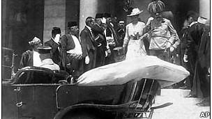Archiduque Franz Ferdinand con su esposa