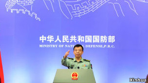 中国国防部新闻发言人耿雁生(资料照片)