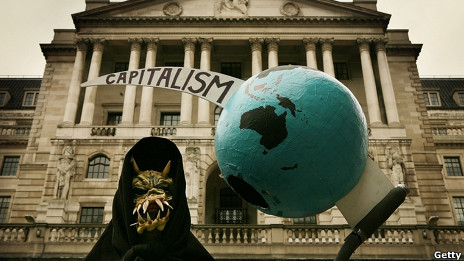 Manifestante anticapitalista
