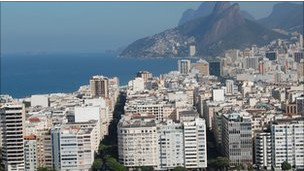 vista de una ciudad en Brasil