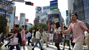 日本东京涩谷街头(资料图片)
