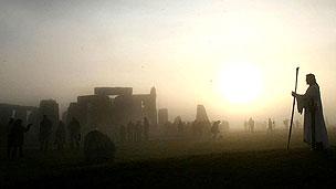 Pastor en Stonehenge