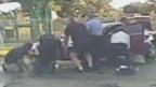 انقاذ طفل من تحت سيارة