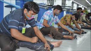 Trabajadores en Bangladés