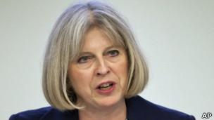 英国内政大臣特蕾萨·梅