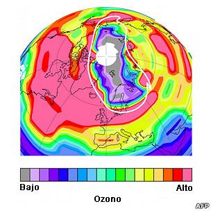 Capa de ozono en el Ártico