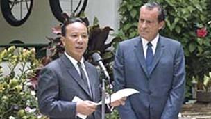 Tổng thống Thiệu và Tổng thống Hoa Kỳ Nixon