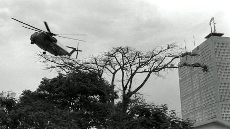 Trực thăng Mỹ rời Sài Gòn ngày cuối cùng của cuộc chiến năm 1975