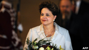 Dilma, ao chegar à Bulgária