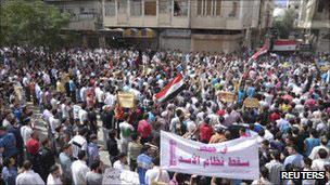 数月来叙利亚发生反对叙利亚总统阿萨德的示威