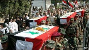 Entierro de soldado sirio