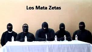 Captura del video de los autodenominados Matazetas en Veracruz, México. Foto de AFP