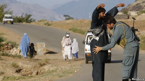 Policía afgano.