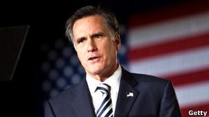 美国共和党总统参选人罗姆尼