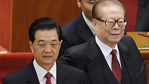 Cả hai ông Giang và Hồ tại lễ kỷ niệm 100 năm Cách mạng Tân Hợi năm 2011