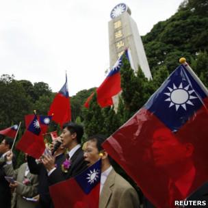 亲台湾团体在香港屯门红楼举行辛亥革命100周年升旗礼(10/10/2011)