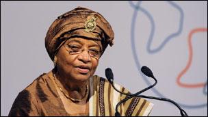 La présidente libérienne