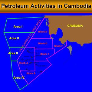 Bản đồ dầu khí Campuchia