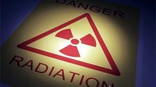 señal radiactiva