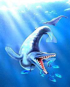 Imagen artística de la ballena primitiva hallada en la Antártida Imagen Marcelo Reguero/AFP/Getty