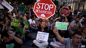Protesta en Madrid