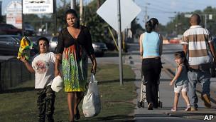 Latinos no Novo México. AP
