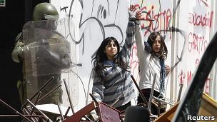 Protestas en Chile. Archivo