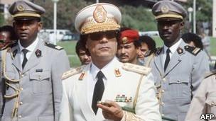 Ông Gaddafi năm 1985