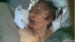 Hình ảnh thi thể ông Gaddafi