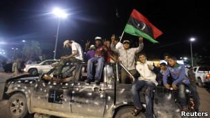 Người Libya ăn mừng cái chết của Đại tá Gaddafi