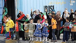 利比亚人欢呼胜利