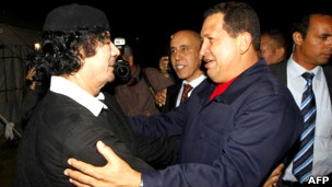 Đại tá Gaddafi và Tổng thống Hugo Chavez