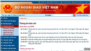 Trang tin Bộ Ngoại giao Việt Nam