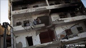 Cảnh tàn phá tại Misrata