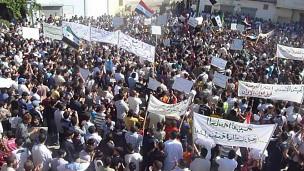 المظاهرات في سورية