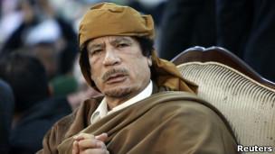 O ex-líder líbio Muamar Khadafi. | Foto: Reuters