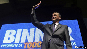 El gobernador de la provincia de Santa Fe, Hermes Binner del Frente Amplio Progresista
