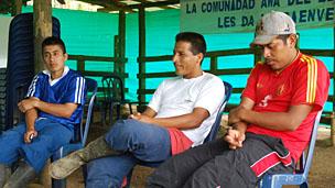 Líderes awá del predio El Edén-Cartagena, Nariño