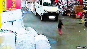广东女童被汽车碾压的事件引起巨大反响