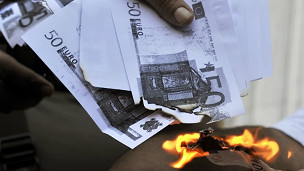 Euros en quema