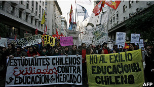 Protesta de estudiantes chilenos