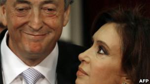El matrimonio Kirchner en una foto de Archivo